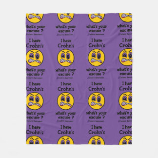 What's Your Excuse...Crohn's Fleece Blanket