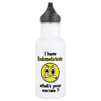 What's Your Excuse...Endometriosis 532 Ml Water Bottle