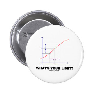 What's Your Limit? Limit Function Geek Humor 2 Inch Round Button