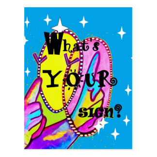 What's Your Sign Postcard