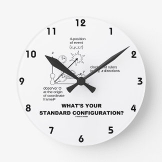 What's Your Standard Configuration? (Physics) Wall Clocks