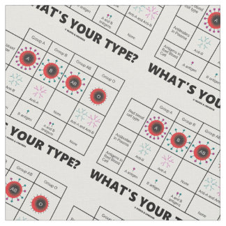 What's Your Type Blood Cell Types Chart Medicine Fabric