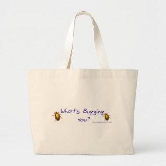 WhatsBuggingYou? Large Tote Bag
