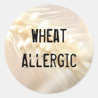 Wheat Allergic Round Sticker
