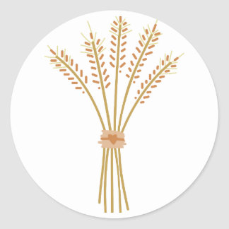 Wheat Bundle Round Sticker