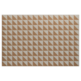 Wheat Burlap and Linen Triangles Geometric Indie Fabric