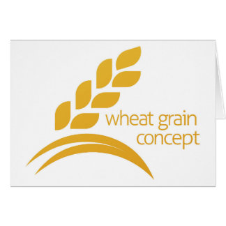 Wheat Corn Grain Icon Concept Card
