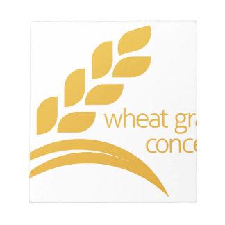 Wheat Corn Grain Icon Concept Notepads