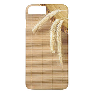 Wheat Ears On Wooden Plate iPhone 7 Plus Case
