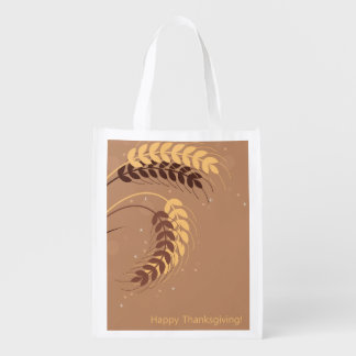 Wheat Ears Reusable Grocery Bags