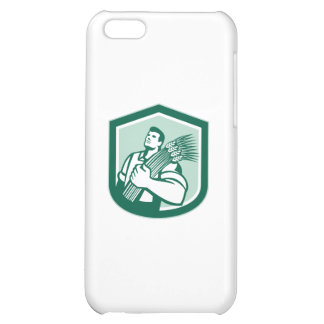 Wheat Farmer Looking Up Shield Retro Cover For iPhone 5C