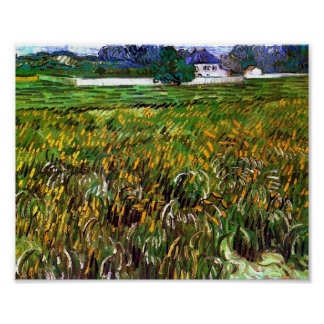 Wheat Field Auvers, White House Van Gogh Fine Art Poster