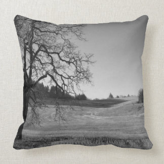 Wheat field, Oregon Throw Pillow