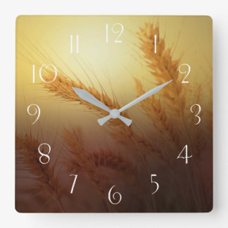 Wheat Field Square Wall Clock