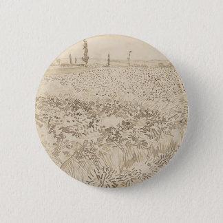 Wheat Field - Van Gogh 2 Inch Round Button