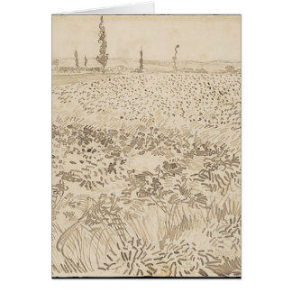 Wheat Field - Van Gogh Card
