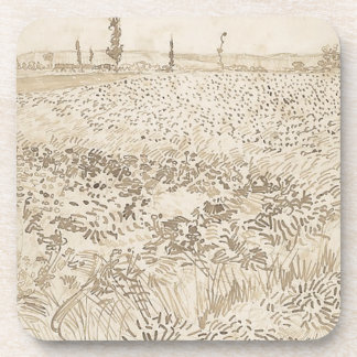 Wheat Field - Van Gogh Coaster