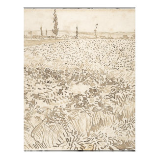 Wheat Field - Van Gogh Letterhead