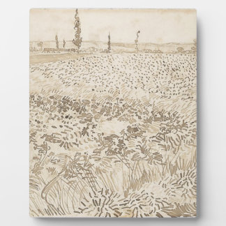 Wheat Field - Van Gogh Plaque