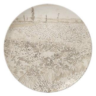 Wheat Field - Van Gogh Plate