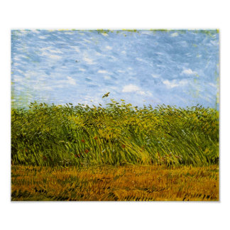 Wheat Field with a Lark Van Gogh Fine Art Poster