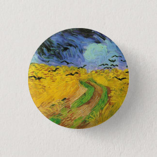 Wheat Field with Crows 1 Inch Round Button