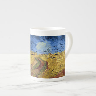 Wheat Field with Crows by Van Gogh Bone China Mug