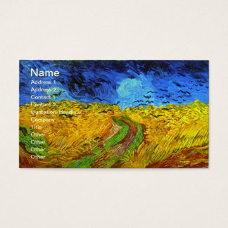 Wheat Field with Crows Van Gogh Fine Art Business Card