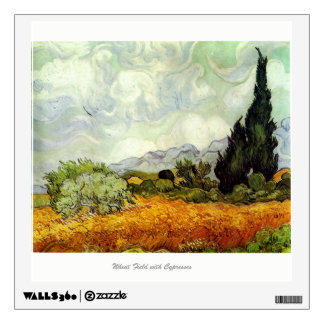 Wheat Field with Cypresses by Van Gogh Wall Decal