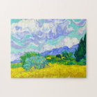 Wheat Field with Cypresses by Vincent Van Gogh Jigsaw Puzzle
