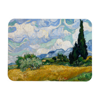 Wheat Field with Cypresses Premium Magnet