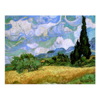 Wheat Field with Cypresses Van Gogh Fine Art Postcard