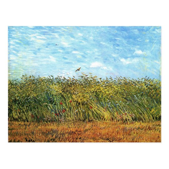 Wheat Field with Lark, Van Gogh Fine Art Postcard