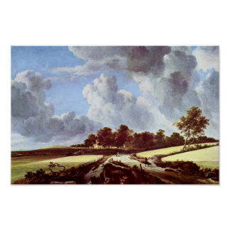 Wheat Fields By Ruisdael Jacob Isaaksz. Van Poster