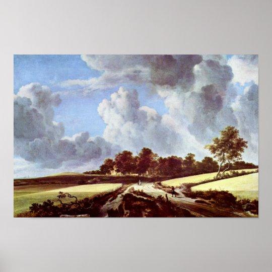 Wheat Fields By Ruisdael Jacob Isaaksz. Van Poster