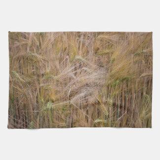 Wheat fields kitchen towel