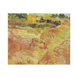 Wheat Fields with Auvers in the Background Canvas Print