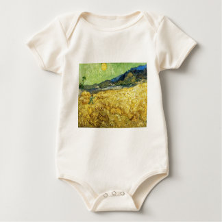 Wheat Fields with Reaper at Sunrise - Van Gogh Baby Bodysuit