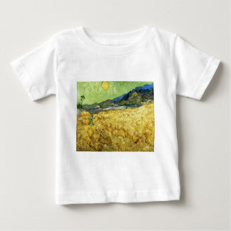Wheat Fields with Reaper at Sunrise - Van Gogh Baby T-Shirt