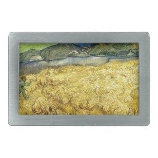 Wheat Fields with Reaper at Sunrise - Van Gogh Belt Buckle