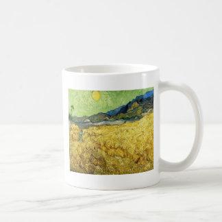 Wheat Fields with Reaper at Sunrise - Van Gogh Coffee Mug