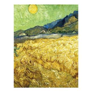 Wheat Fields with Reaper at Sunrise - Van Gogh Letterhead