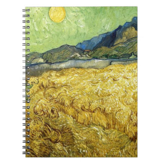 Wheat Fields with Reaper at Sunrise - Van Gogh Notebook