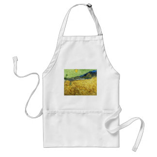 Wheat Fields with Reaper at Sunrise - Van Gogh Standard Apron
