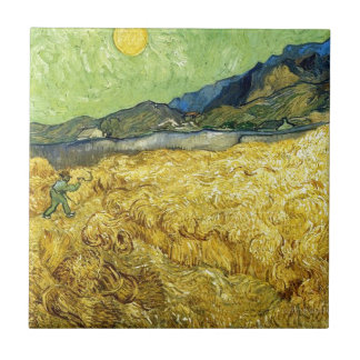 Wheat Fields with Reaper at Sunrise - Van Gogh Tile