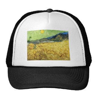 Wheat Fields with Reaper at Sunrise - Van Gogh Trucker Hat