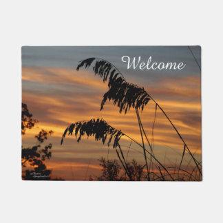 Wheat grass sunrise Welcome Doormat