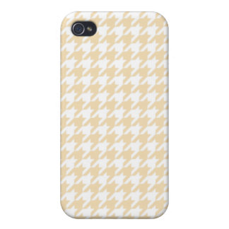 Wheat Houndstooth iPhone 4 Case