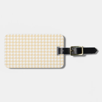 Wheat Houndstooth Luggage Tag