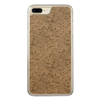Wheat Natural Cork Bark Look Wood Grain Carved iPhone 8 Plus/7 Plus Case